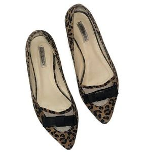 Cape Robbin Leopard print flats with bow